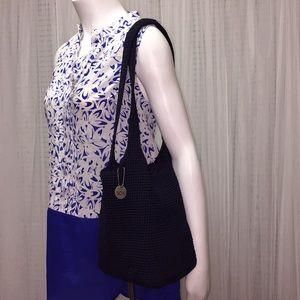 The Sak Black Crochet Boho Sling Bag